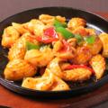 料理メニュー写真イカのトウチ鉄板焼き