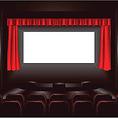 【★ 大型スクリーン 貸出し無料 ★】横幅15メートルの大型スクリーン完備。各種パーティーに最適です。