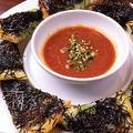 料理メニュー写真ブラックホール黒チヂミ