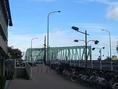 こちら「相生橋(あいおいばし)」を渡ります。「相生橋」を渡っているとき、左手に船着場が確認できます。