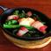 料理メニュー写真菜の花のイベリコベーコン焼き