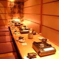 掘りごたつ式個室は宴会利用に人気のお部屋です。