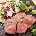 料理メニュー写真国産黒毛和牛A5サーロインステーキ