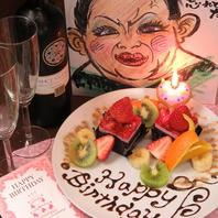 送別会や記念日・誕生日に似顔絵&ホールケーキあげる