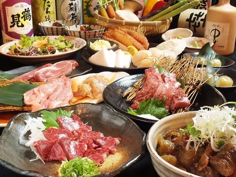 宮崎鶏・旬野菜を自慢の芋焼酎と共に!遠赤外線効果で人気のヘルシー焼肉♪