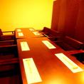 個室空間のテーブル席。各種宴会に是非