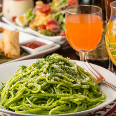 料理メニュー写真◆ほうれん草のクリームパスタ【アルペスト】◆