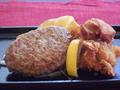 料理メニュー写真ハンバーグ&フライドチキン