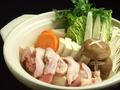 料理メニュー写真【七八名物】軍鶏鍋 鶏白湯スープ