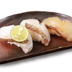 宮崎県産 真鯛の三種にぎり