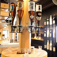 日本酒約20種とKIRINの生ビール、焼酎、梅酒、ハイボール、サワー、カクテル、ソフトドリンクなど全て飲み放題です!セルフですので好きなお酒を好きなだけお楽しみ下さい。!