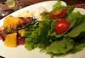 料理メニュー写真リンゴベーコン