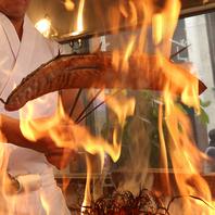 豪快に焼き上げる炉端焼き!素材本来の旨味を堪能☆