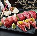 料理メニュー写真牛肉寿司3種