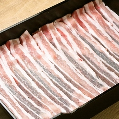 料理メニュー写真特選豚バラ 120g