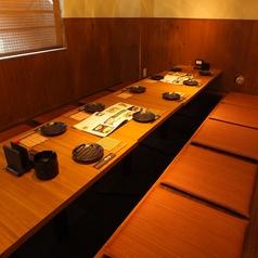 【4名様~8名様向けの掘りごたつ席】少人数向け半個室。お仕事帰りや少人数でのご宴会にぴったりなお席です。さまざまな宴会に最適です。