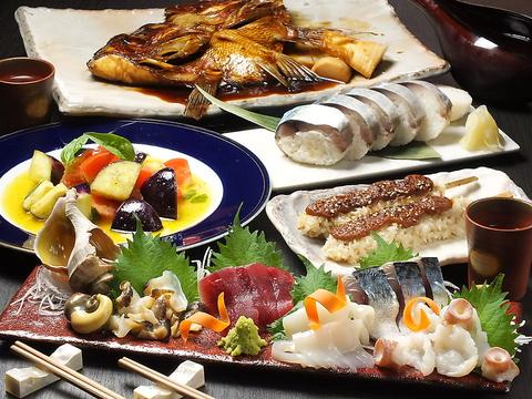 旬の魚貝、野菜を使った季節料理を多数取り揃えています。