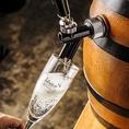 かちわり樽詰スパークリングワイン初登場!!※ビールジョッキで提供します!