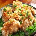 料理メニュー写真油淋鶏(揚げ鶏のピリ辛ねぎソースがけ)