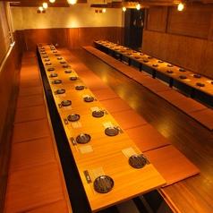 【20名様~60名様向けの掘りごたつ席】各種ご宴会には最大60名様まで収容可能な掘りごたつのお席がオススメ♪