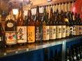 お酒、焼酎の種類も豊富!