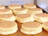 銅板で丁寧に焼くパンケーキ