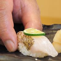 北陸の食材を使った創作鮨