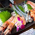 料理メニュー写真海老の刺身三種盛り