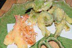車海老と季節野菜の天ぷら