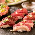 料理メニュー写真お寿司だって馬肉にこだわっております♪