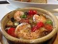 料理メニュー写真エビのアヒージョ/地鶏のアヒージョ