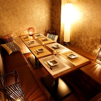 【通常個室フロア】雰囲気抜群のプライベート個室