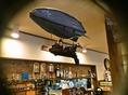 「飛行船」すべて洋食堂ピノキオの店長の手作り!発砲スチロールでお作りしています♪