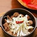 料理メニュー写真砂肝と葱のアヒージョ