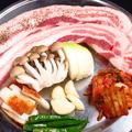 料理メニュー写真豚3枚肉の鉄板焼肉 1人前
