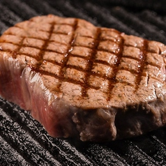 最高等級A5ランク村上牛サーロインステーキの網焼き