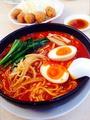 料理メニュー写真旨辛麺(太麺)