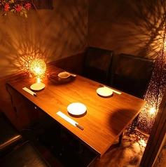 【プライベート個室】2名様など小規模の人数でのご利用が◎。接待や、デートなどには最適です!様々な用途にご利用可能です。お席のご予約だけもご予約可能です。