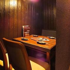 4名テーブルは3卓ご用意