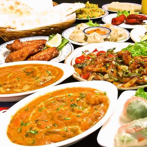 ◆送別会受付中◆人気の多国籍料理が入った飲み放題付コースは3600円~★