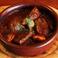 牛タンとマッシュルームの赤ワイン煮込み