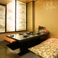当店は完全予約制、全室個室のプライベート空間。