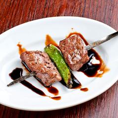 料理メニュー写真コロコロ牛肉の串焼き