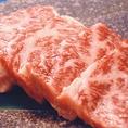 当店のお肉は全てが最高級A5ランクのブランド牛。産地から直接仕入れているので鮮度抜群◎