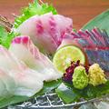料理メニュー写真産地直送鮮魚の御造里三種