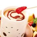 料理メニュー写真チョコキャラメルフォンデュ