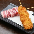 料理メニュー写真豚/鶏/茄子/うずら/紅しょうが/しいたけ/にんにく
