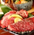 料理メニュー写真ハラミの串焼きステーキ/塩だれハラミの串焼きステーキ