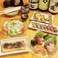 宴会コースは旬の素材をふんだんに使用。〆は素麺で!