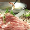 料理メニュー写真留寿都産もち豚のしゃぶしゃぶ